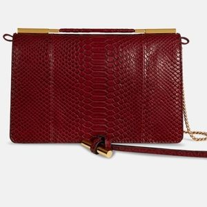 STELLA MCCARTNEY Small Flo Alter Snake Faux bag